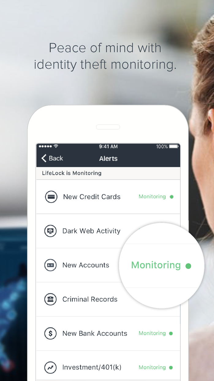 LifeLock ID Theft Protection Screenshot
