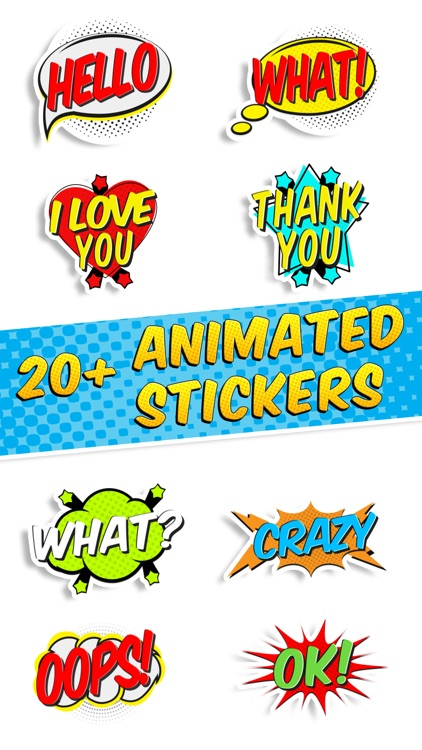 Comics Pop Art Sticker Effects