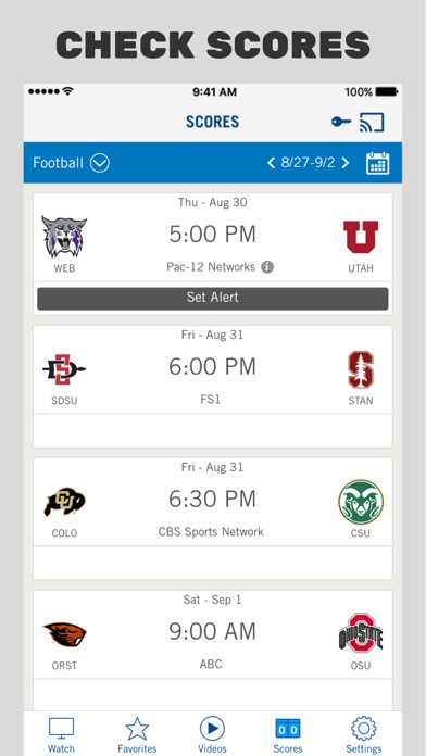 Pac-12 Now iPhone