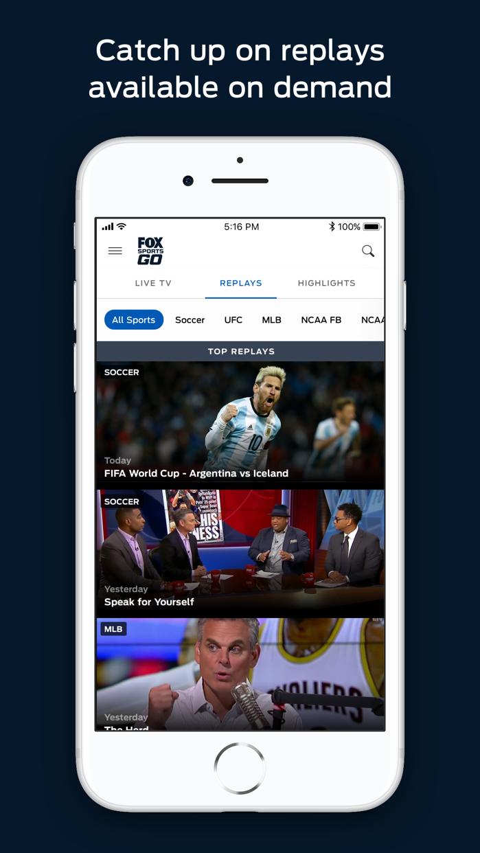 FOX Sports GO: Watch Live Screenshot