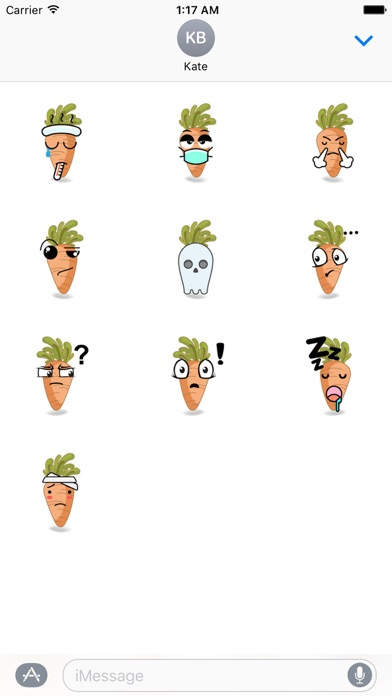 Cute Carrot Emoji Sticker screenshot 3
