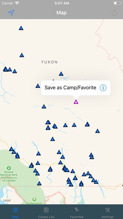 Yukon – Camping & RV spots screenshot-2