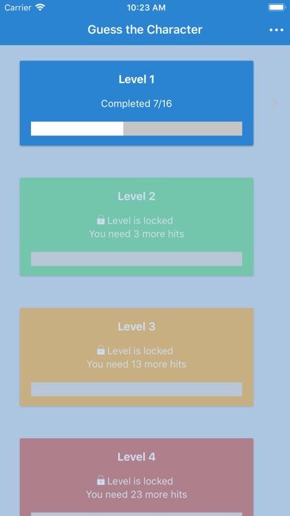 Guess the Character Quiz Game screenshot-3