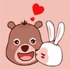 Bear and Bunny Stickers