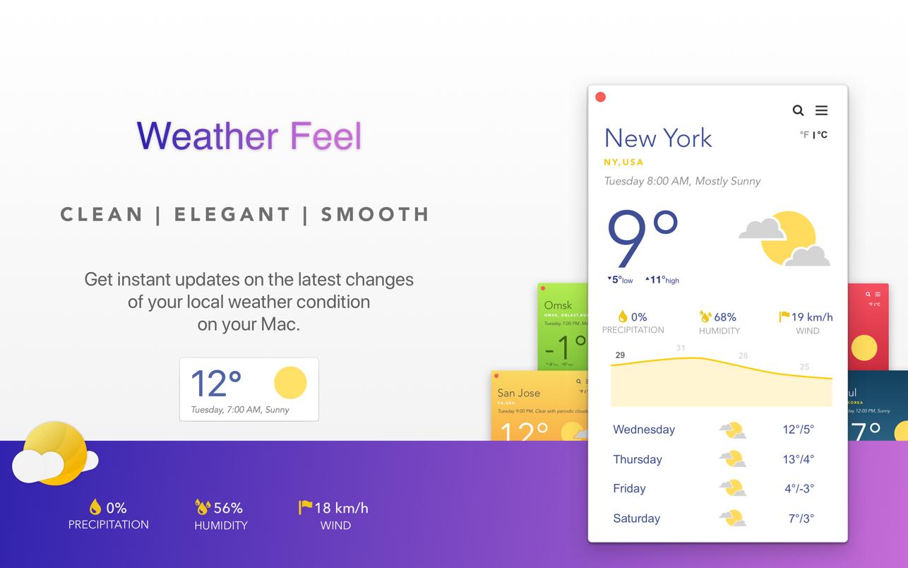 Weather Feel Mac 破解版 出色主题天气软件