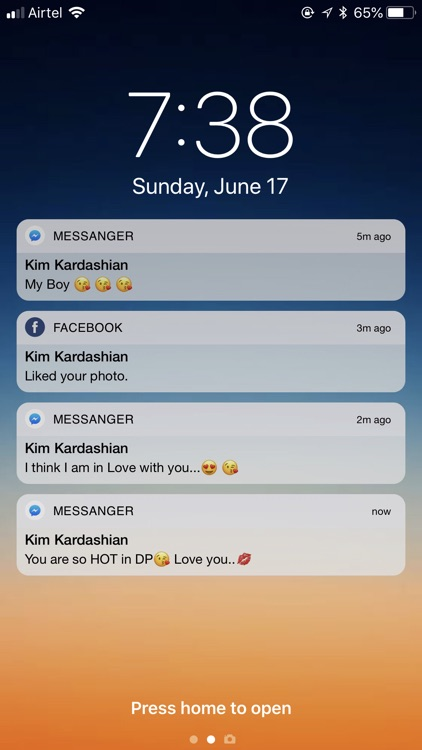 fake text notification message