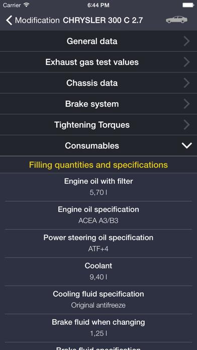TechApp for Chrysler Screenshot