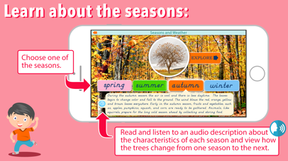 Montessori Seasons & Weather screenshot 2