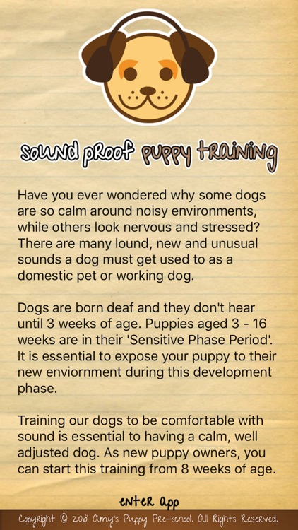 Sound Proof Puppy Training
