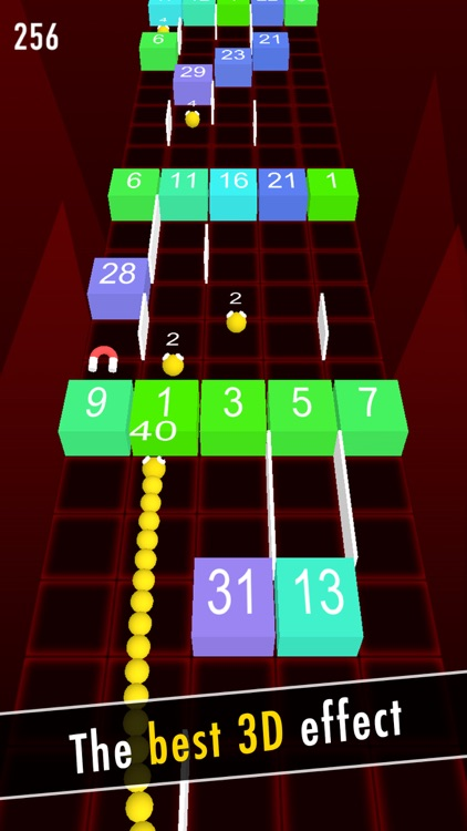Balls Snake-Hit Up Number Cube screenshot-0