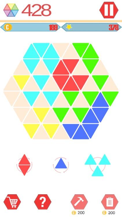 Hexagons.