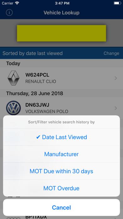 Vehicle Lookup screenshot two