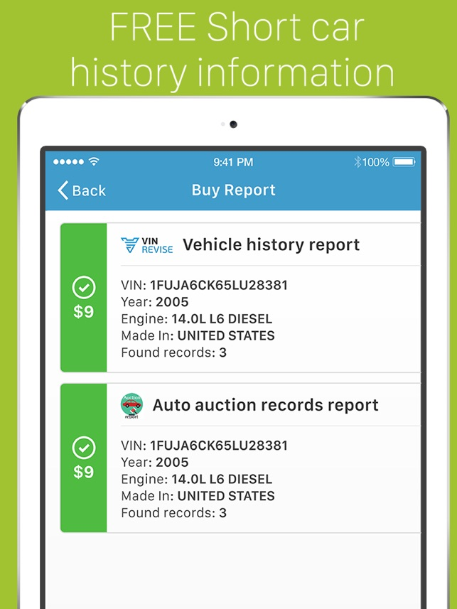 VIN Revise: Check Car History on the App Store
