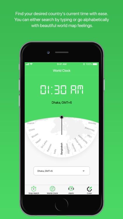 Stopwatch - world clock