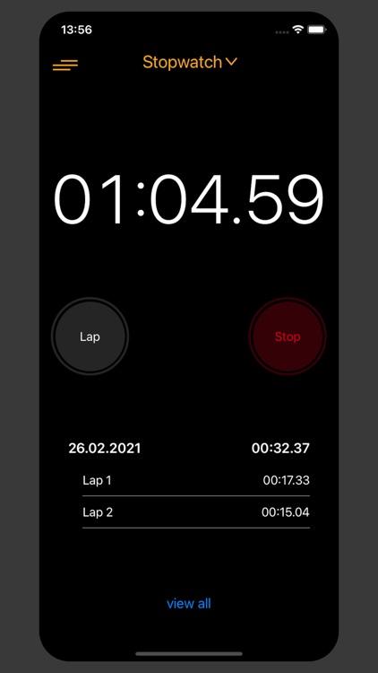Stopwatch for Sport & Work screenshot-4