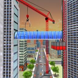 Building Connecting Bridge Sim