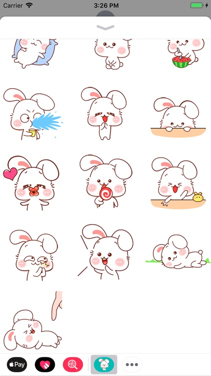 Sweety Bunny Animated Stickers