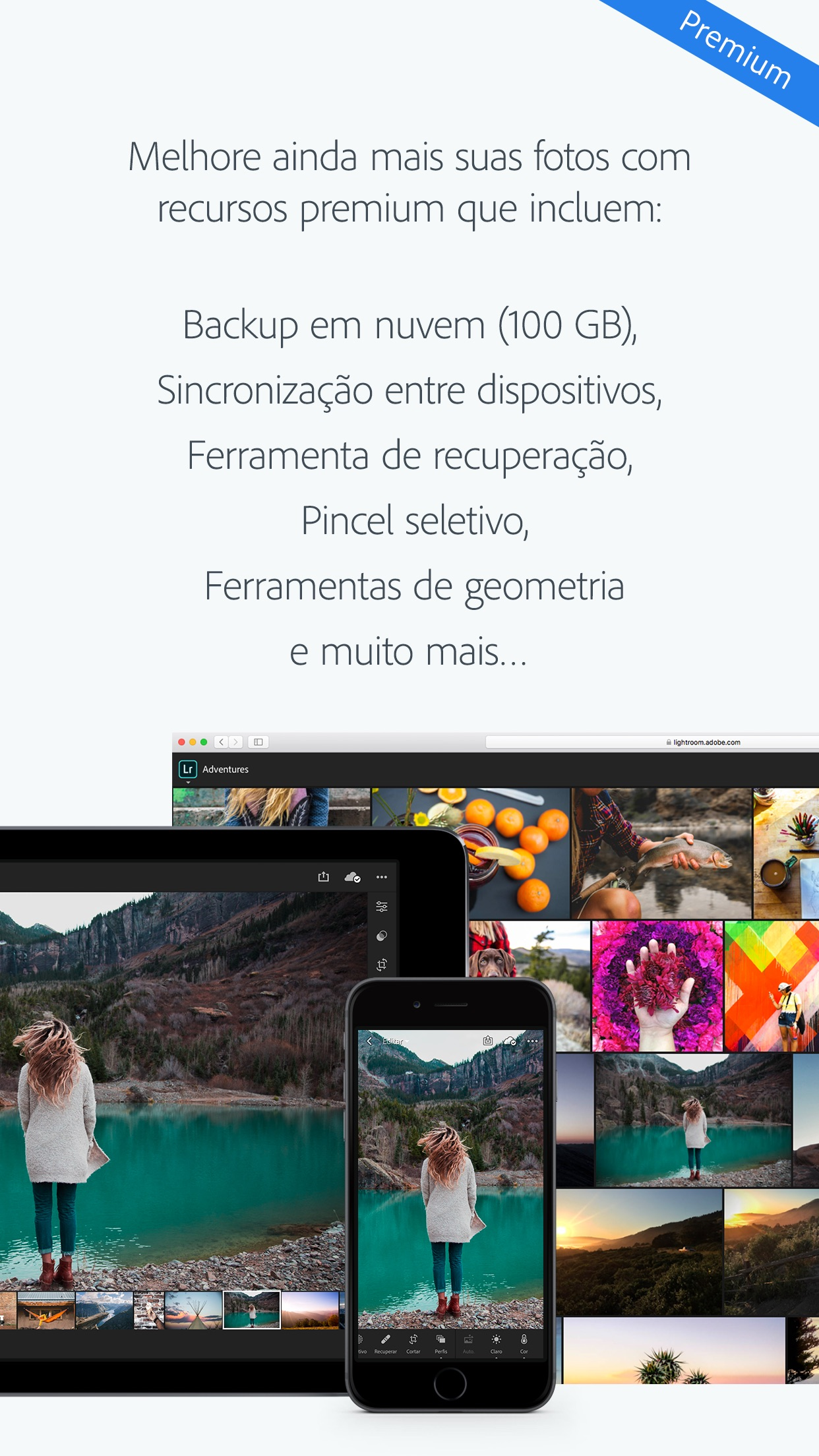 Screenshot do app Adobe Lightroom CC