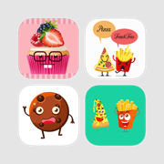 Ultimate Foodies With Cupcake & Biscuit