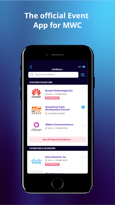 Screenshot #2 pour MWC21 – Official GSMA MWC App