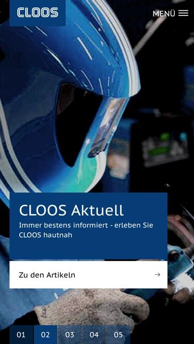 CLOOS AppScreenshot von 2