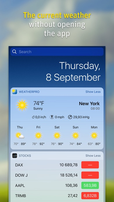 Weatherpro review screenshots