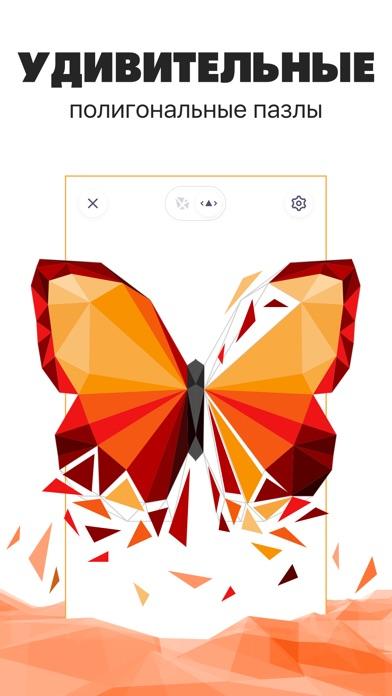 Полигональный пазл - раскраска
