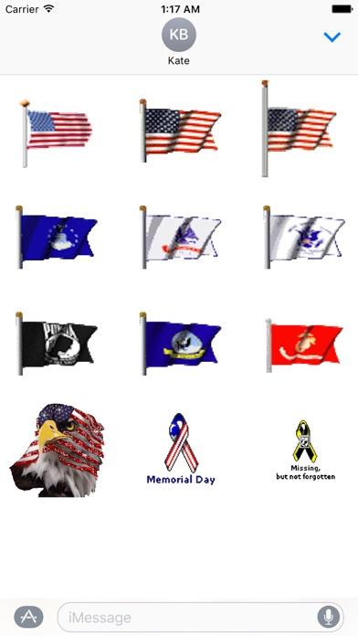 Animated Memorial Day Emoji screenshot 2