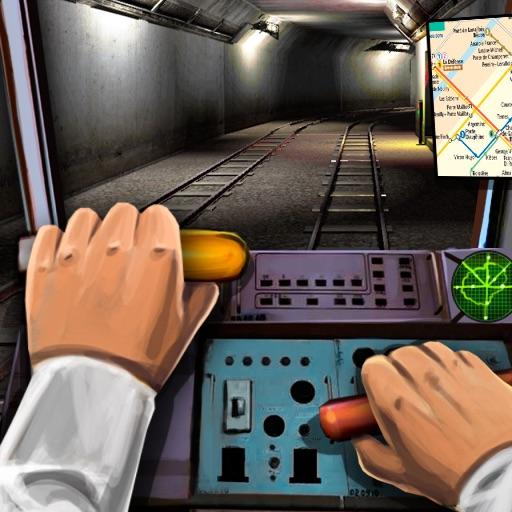Метро Поезд 3Д Водить Сим
