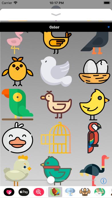 Bird Stickers HD screenshot two