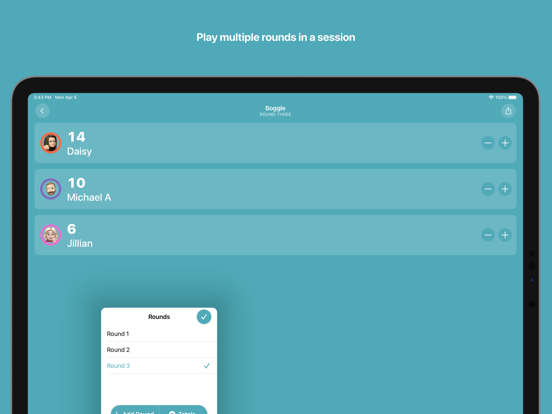 Ipad Screen Shot Scorecard: Point Tracker 4