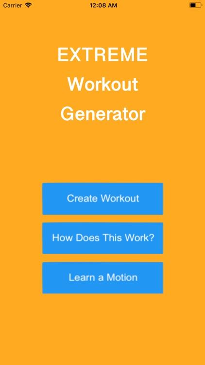 Extreme Workout Generator