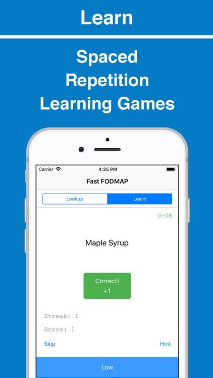 Fast FODMAP Lookup & Learn