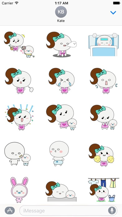 Mother And Her Child Sticker screenshot 2