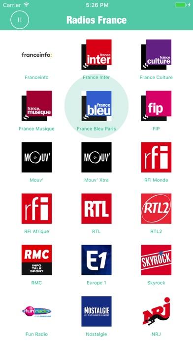 Radios France Pro - Live Radio Screenshots