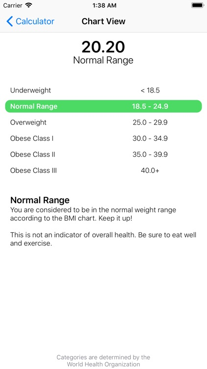 BMI Calculator++ screenshot-5