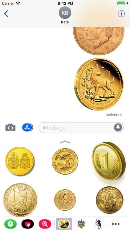 Coins Set Stickers screenshot-3