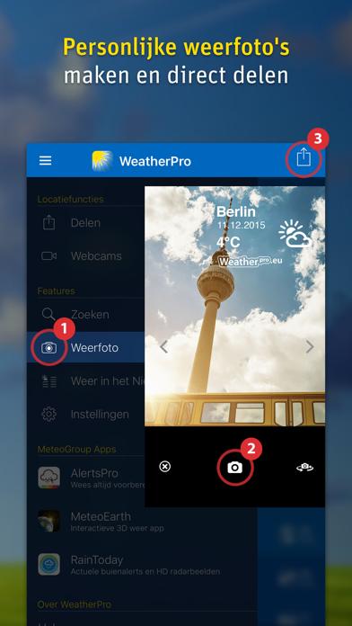 WeatherPro iPhone app afbeelding 5