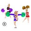 Animated Cheerleader Sticker