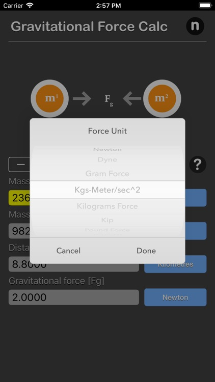 Gravitational Force Calculator screenshot-7