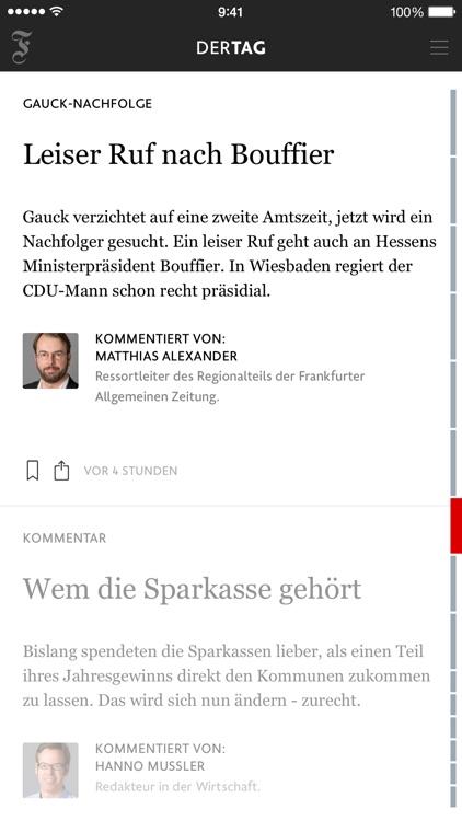 F.A.Z. Der Tag - Nachrichten screenshot-3