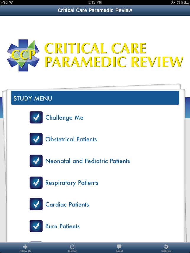 Critical Care Paramedic Review On The App Store