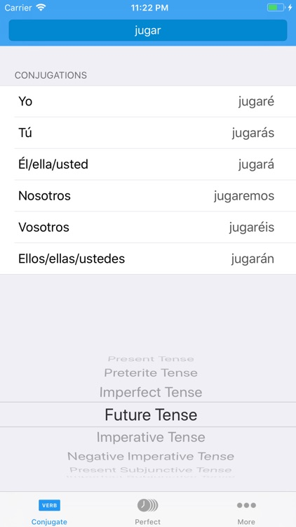 Conjugate Spanish Verbs screenshot-1