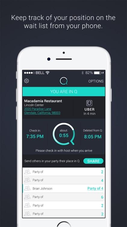 Q Waitlist Guest App