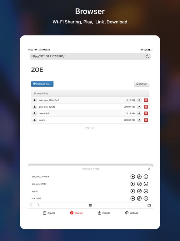 ZOE - Video Player Screenshots