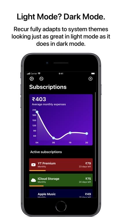 Recur - Subscription Tracker screenshot-7