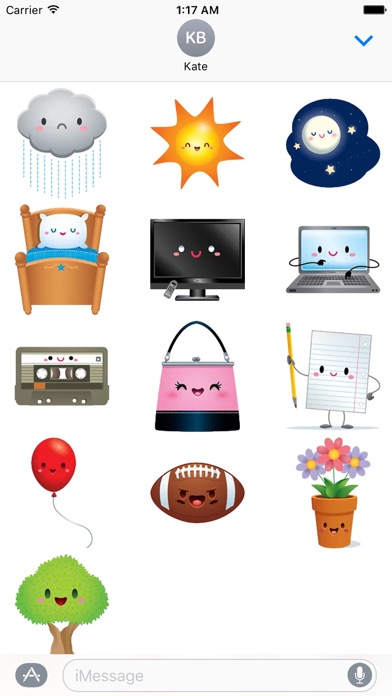 Cute Icons IconMoji Sticker screenshot 3