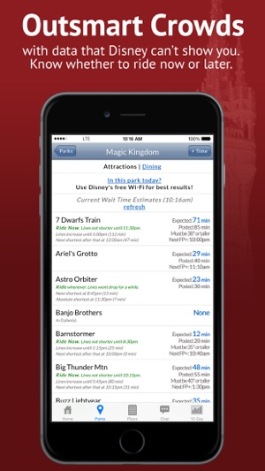 Disney World Lines (TP) on the App Store