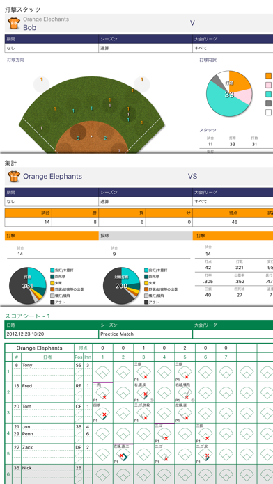Softball Stats screenshot1
