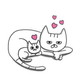 Kitten And Mother Cat Sticker